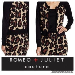 🦋Romeo + Juliet Couture Animal Print Knit Zip🦋